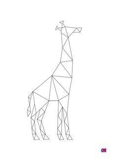 Coloriage Giraffe