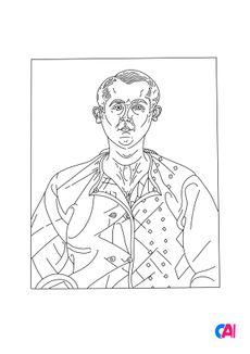 Coloriage Autoportrait - Joan Miró