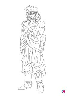 Coloriage Broly 2