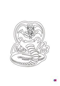 Coloriage Cobra Kai