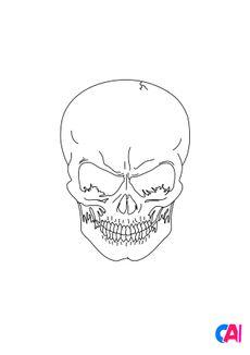 Coloriage Crâne 2