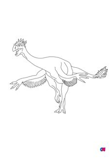 Coloriage Gigantoraptor