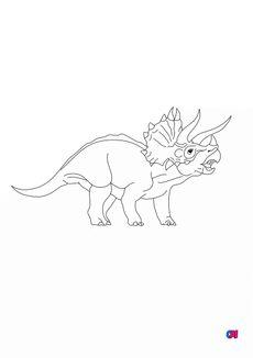 Coloriage Tricératops 2