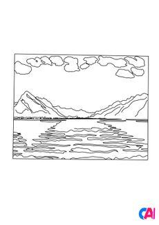 Coloriage Ferdinand Hodler -Le Lac de Thoune