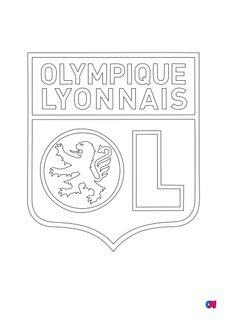 Coloriage L'olympique lyonnais