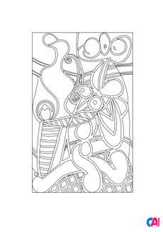 Coloriage Grande Nature morte au guéridon - Pablo Picasso