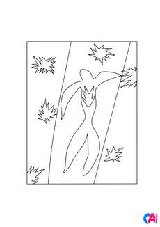 Coloriage Henri Matisse - La chute d'Icare