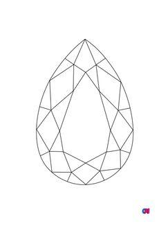 Coloriage Diamant Poire