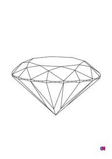 Coloriage Les diamants