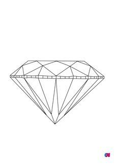 Coloriage Diamant brillant vue de profil