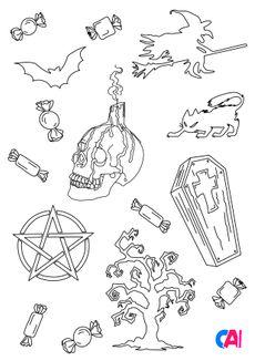 Coloriage Les horreurs d'Halloween 2