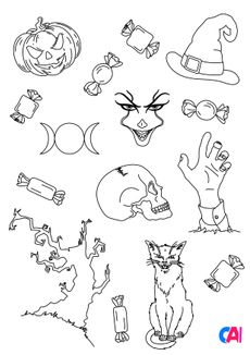 Coloriage Les horreurs d'Halloween 3