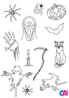 Coloriage Les horreurs d'Halloween 6