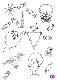 Coloriage Les horreurs d'Halloween