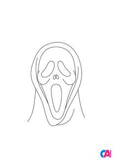 Coloriage Masque de Scream