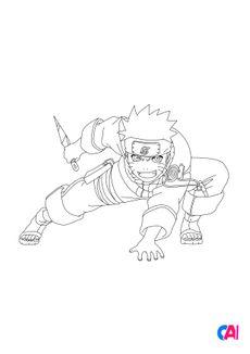 Coloriage Naruto 4
