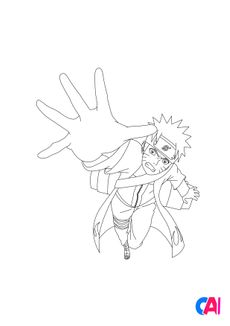 Coloriage Naruto 5