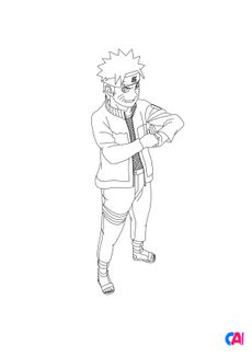 Coloriage Naruto 7
