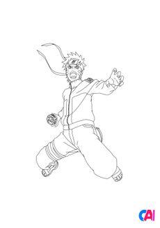 Coloriage Naruto 8