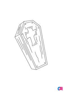 Coloriage Un cercueil