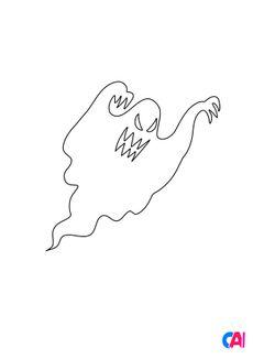 Coloriage Un fantôme démoniaque