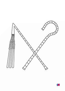 Coloriage Egypte ancienne - La crosse et le fouet de Pharaon