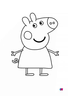 Coloriage Peppa Pig - Peppa