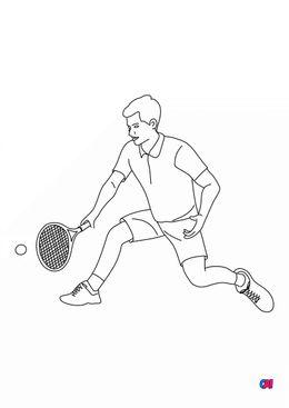 Coloriage tennis - Tennisman