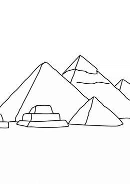Coloriage Egypte ancienne - Pyramides de Gizeh