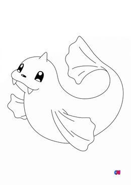 Coloriage Pokémon - 87 - Lamantine