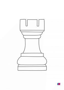 Coloriage Les échecs - La tour