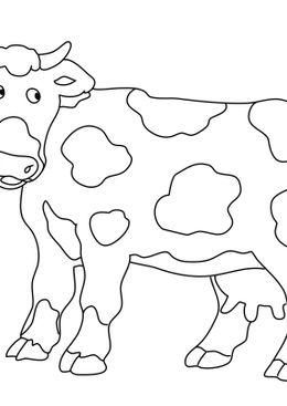 Coloriages d'animaux - Une vache