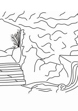 Coloriages de bâtiment et d'oeuvres d'art - Le tombeau du Christ