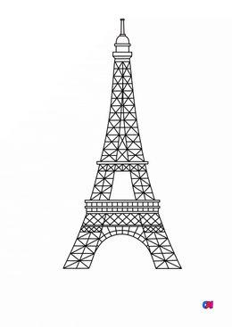 Coloriages de bâtiment et d'oeuvres d'art - La Tour Eiffel