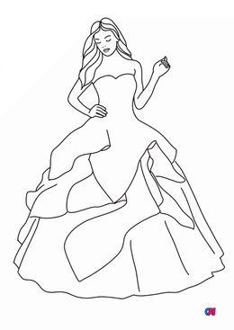 Coloriage de Princesses - Princesse au château