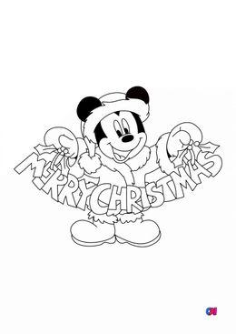 Coloriage de Noël - Noël - Mickey Joyeux Noël