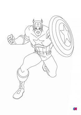 Coloriage Avengers - Captain America