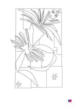 Coloriages de bâtiment et d'oeuvres d'art - La danseuse Creole - Matisse