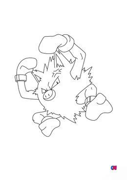 Coloriage Pokémon - 57 - Colossinge