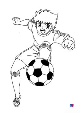 Coloriage Football - Olive et tom