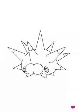 Coloriage Pokémon - 871 - Wattapik