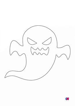 Coloriages Halloween - Fantôme effrayant