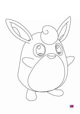 Coloriage Pokémon - Pokemon - 40 - Grodoudou