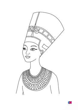 Coloriage Egypte ancienne - Nefertiti