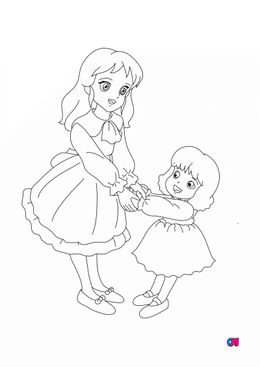 Coloriage Princesse Sarah - Sarah et Lottie