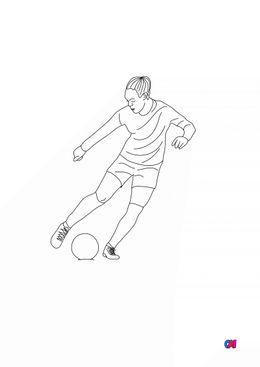 Coloriage Football - Footballeuse