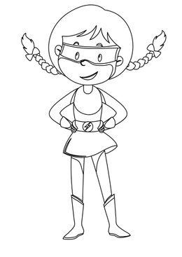 Coloriage de supers héros - flash girl