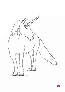 Coloriage Licornes - Licorne 4
