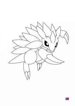 Coloriage Pokémon - 28 - Sablaireau