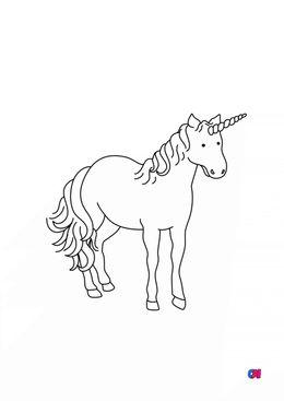 Coloriage Licornes - une grande licorne